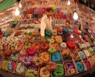 ISLAMABAD: 09-04-A bangles seller setting at a stall at jinnah super market on Tuesday.:- story photo by Syed Mehdi